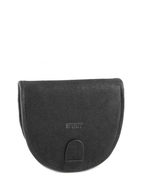 Porte-monnaie Cuir Spirit Noir affaires B5741