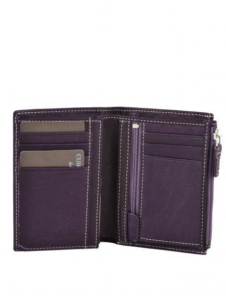 Portefeuille Cuir Petit prix cuir Violet elegance SA902 vue secondaire 2