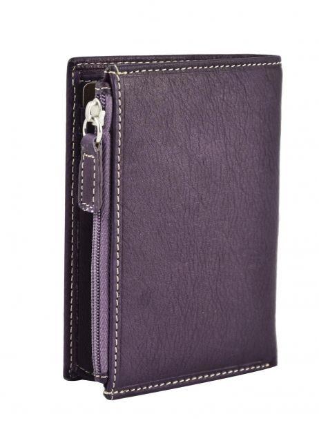 Portefeuille Cuir Petit prix cuir Violet elegance SA902 vue secondaire 1