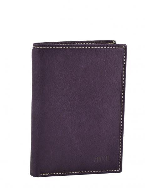Portefeuille Cuir Petit prix cuir Violet elegance SA902
