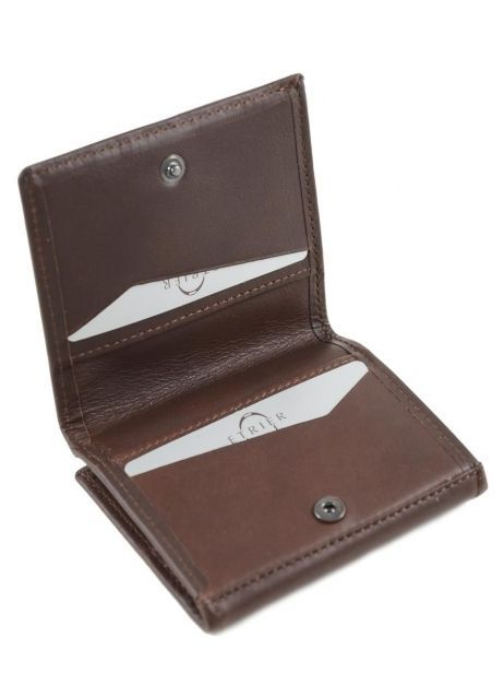 Purse Leather Etrier Brown dakar 200096 other view 3