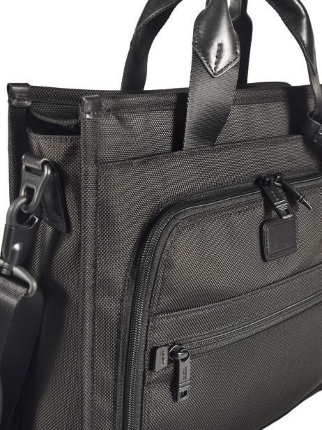 Briefcase 1 Compartment Tumi Black alpha 2 business DH26110 other view 3
