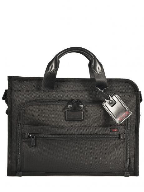 Briefcase 1 Compartment Tumi Black alpha 2 business DH26110