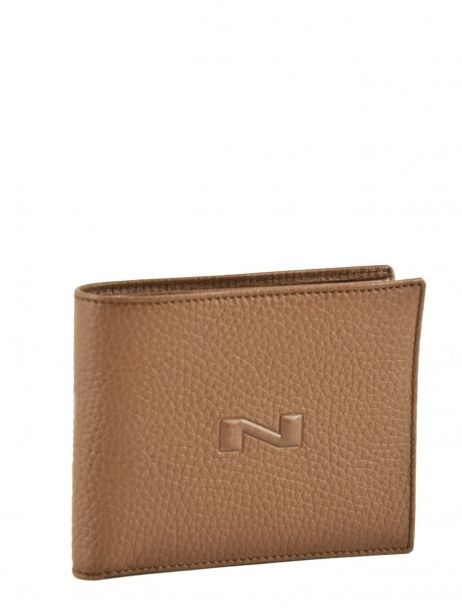 Portefeuille Cuir Nathan baume Marron original homme 458N