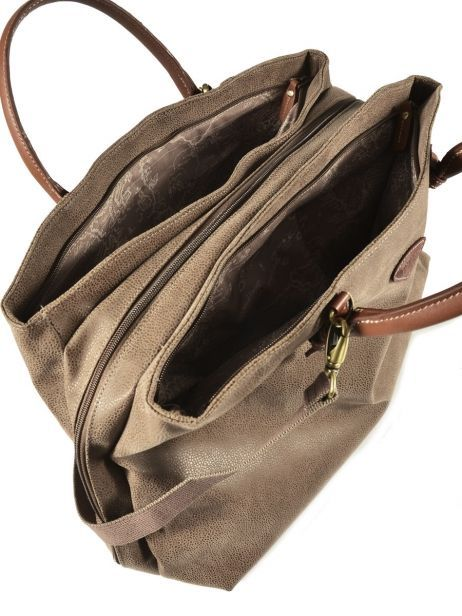 Cabin Duffle Jump Beige 4439a other view 5