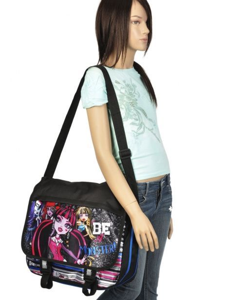 Sac Bandoulière Monster high Noir be a monster MOH37112 vue secondaire 1
