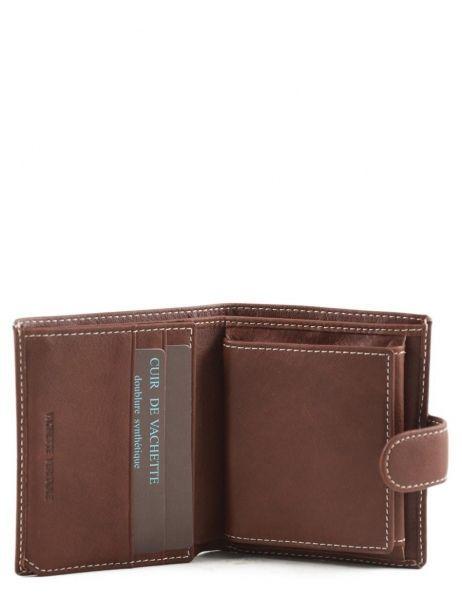 Porte-monnaie Cuir Petit prix cuir Marron elegance SA903 vue secondaire 3