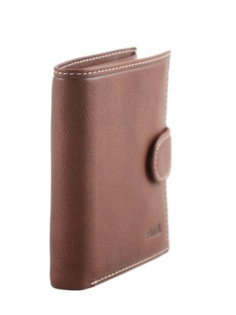 Porte-monnaie Cuir Petit prix cuir Marron elegance SA903 vue secondaire 1