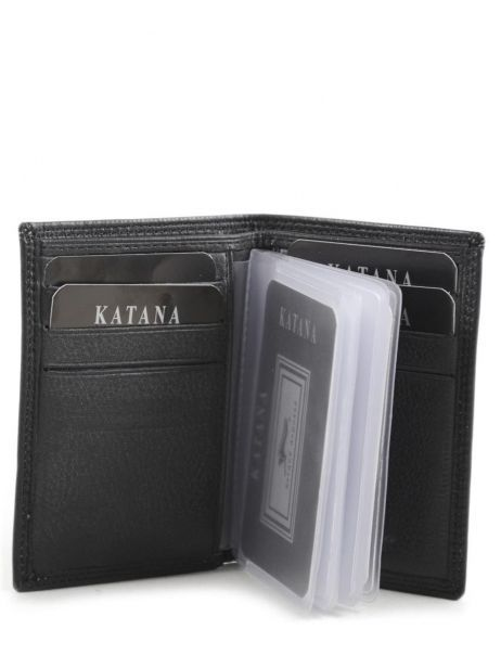 Card Holder Leather Katana Black marina 753038 other view 3