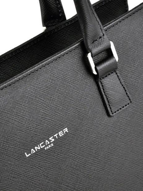 Sac Trapèze Pur Saffiano Cuir Lancaster Noir pur saffiano 421-41 vue secondaire 1