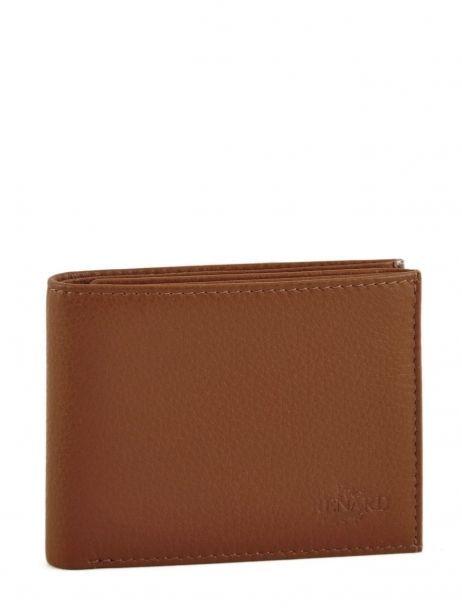 Wallet Leather Yves renard Brown 2307