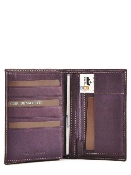 Portefeuille Cuir Petit prix cuir Violet elegance SA901 vue secondaire 3