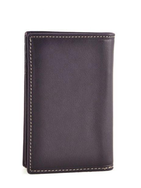 Card Holder Leather Petit prix cuir Violet elegance SA907 other view 2