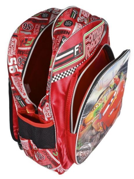 Backpack 1 Compartment Cars Red formula racers 22210 other view 6