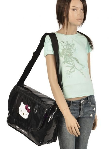 Sac Bandoulière Hello kitty Noir classic dot's HPR25147 vue secondaire 2
