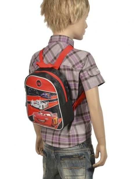 Backpack Cars Multicolor hot pursuit D56054 other view 1