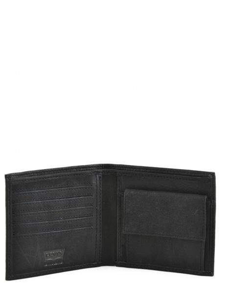 Wallet Leather Levi's Black clairview 222539-4 other view 3