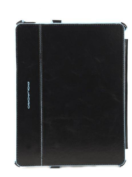 Tablet Cover Piquadro Black blue square AC2862B2 other view 3