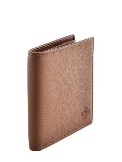 Wallet Leather Yves renard Brown veau foulonne 2375 other view 1