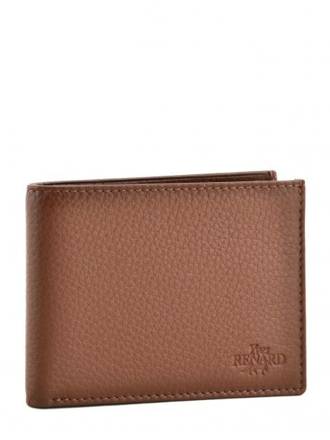 Wallet Leather Yves renard Brown veau foulonne 2375