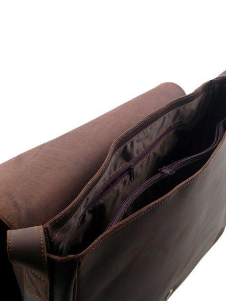 Crossbody Bag A4 Arthur et aston Brown nicolas - 00005295 other view 3