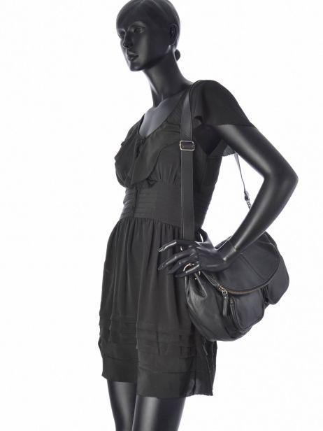 Sac Bandoulière Vintage Cuir Nat et nin Noir vintage LOLA vue secondaire 2