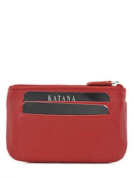 Porte-monnaie Cuir Katana Rouge daisy 553120 vue secondaire 2
