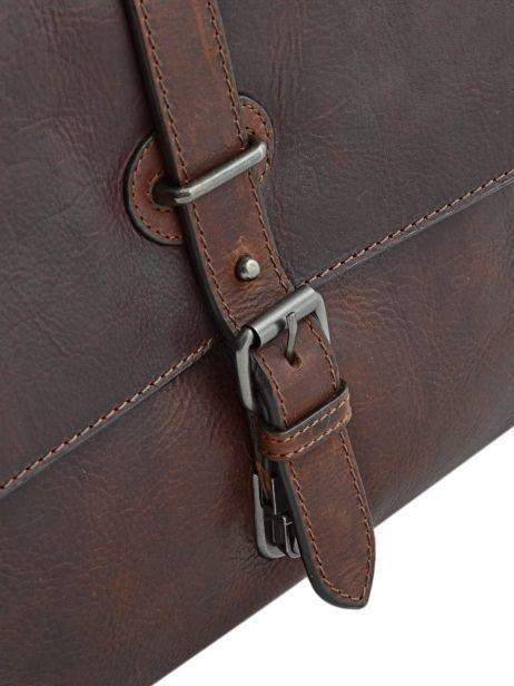 Briefcase Leonhard heyden Brown roma 5370 other view 3