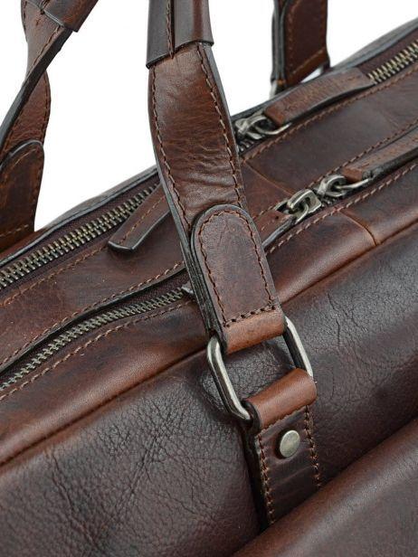 Briefcase Leonhard heyden Brown roma 5370 other view 1