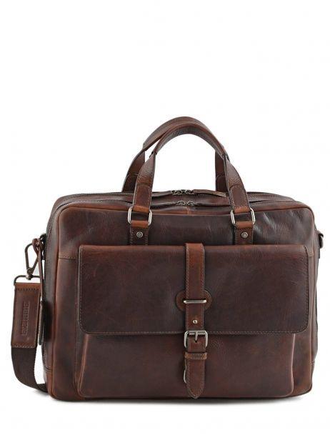 Briefcase Leonhard heyden Brown roma 5370