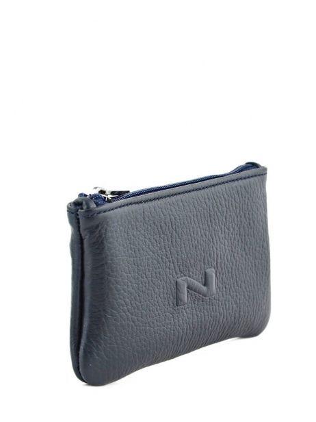 Porte-monnaie Cuir Nathan baume Bleu grained 105N vue secondaire 1