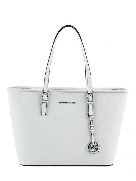 Shopping Bag Jet Set Travel Leather Michael kors White jet set travel S4STVT2L