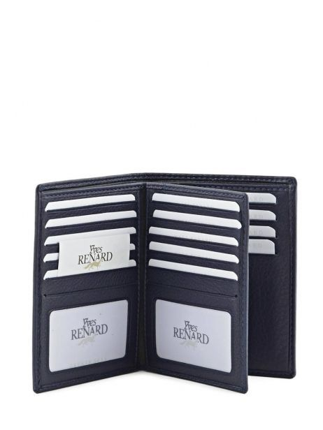 Wallet Leather Yves renard Blue 23425 other view 3