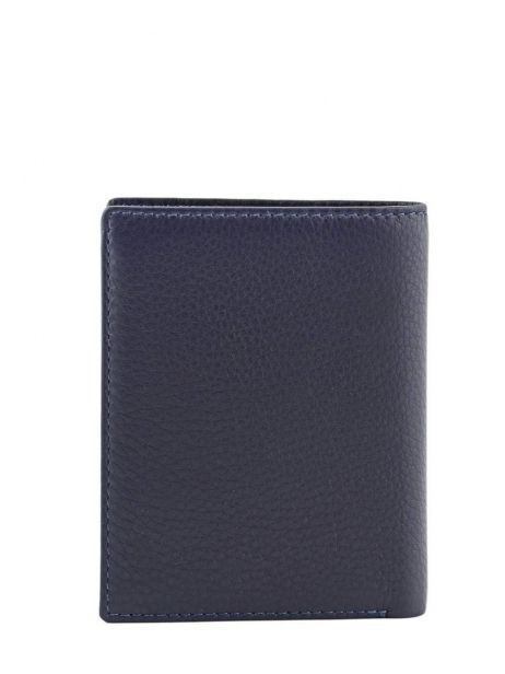 Wallet Leather Yves renard Blue 23425 other view 2