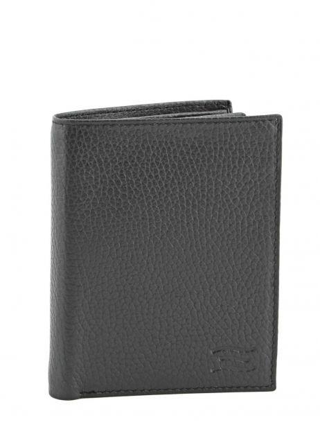 Wallet Leather Crinkles Black 14089