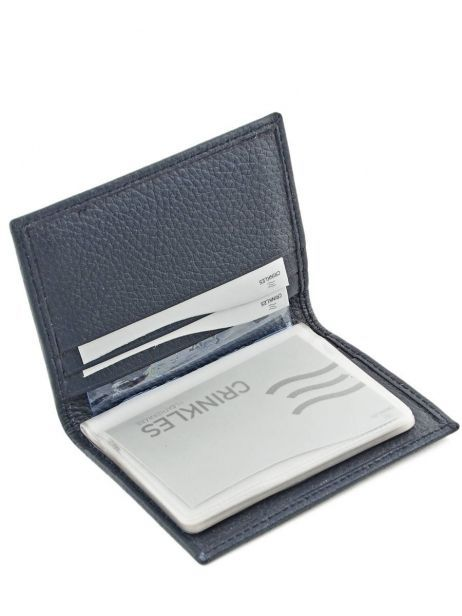 Card Holder Leather Crinkles Blue 14016 other view 3