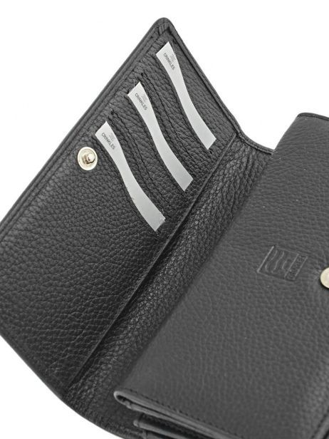 Wallet Leather Crinkles Black 14001 other view 4
