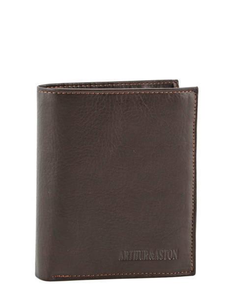 Wallet Leather Arthur et aston Black jasper 1589-678
