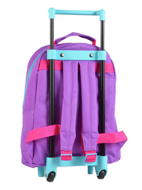 Wheeled Backpack 1 Compartment Frozen Violet christal 13421 other view 5