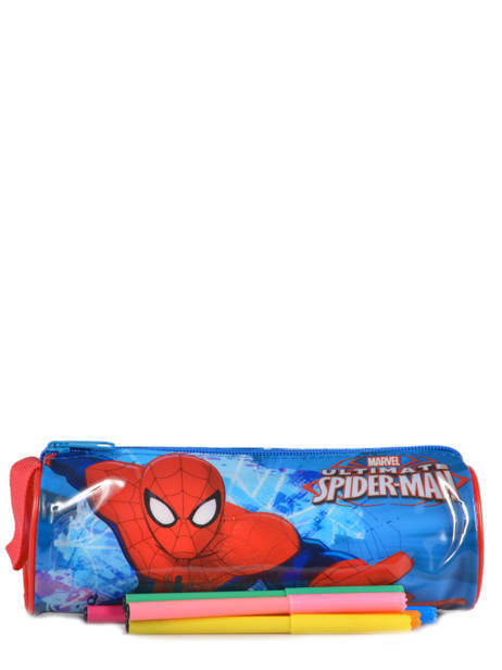 Trousse 1 Compartiment Spiderman Rouge basic AST2246 vue secondaire 1