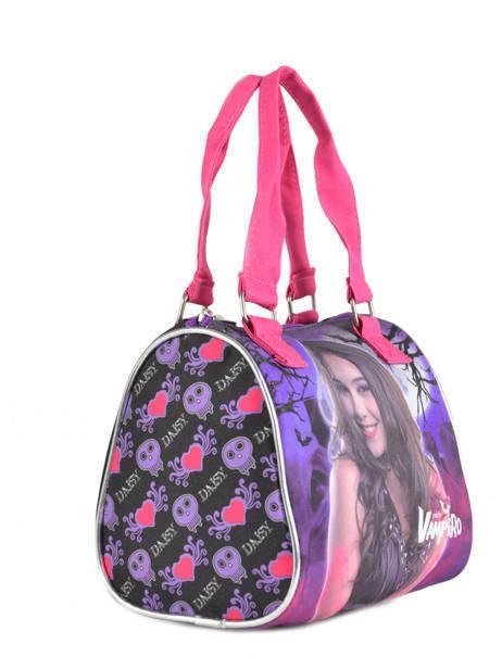 Sac Porté Main Chica vampiro Violet black pink 699TMF vue secondaire 3