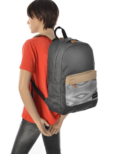 Backpack 2 Compartments + 15'' Pc Quiksilver Gray back to school YBP03278 other view 3