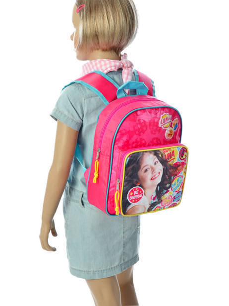 Backpack 1 Compartment Soy luna Multicolor be unique 95810SOY other view 2