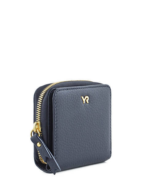 Wallet Leather Yves renard Blue 29692 other view 1