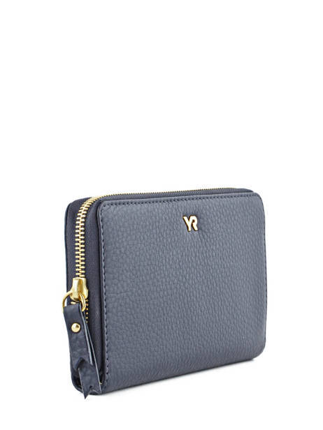 Continental Wallet Leather Yves renard Blue 29784 other view 1