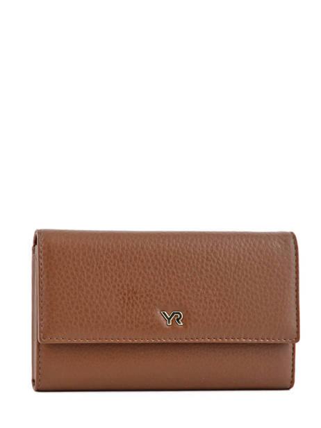 Wallet Leather Yves renard Brown 29851