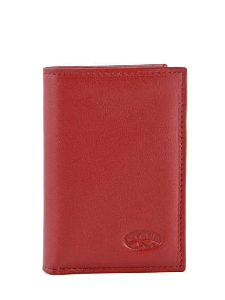 Card Holder Leather Katana Red daisy 553038