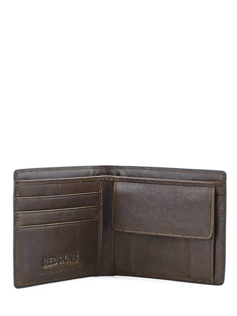 Wallet Leather Redskins Brown wallet BASILE other view 3