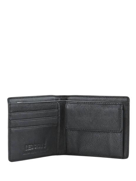 Wallet Leather Redskins Black wallet BASILE other view 3