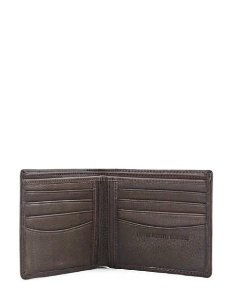 Porte-cartes Cuir Redskins Marron wallet BENITO vue secondaire 3